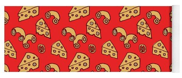 Mac And Cheese Pattern Yoga Mat