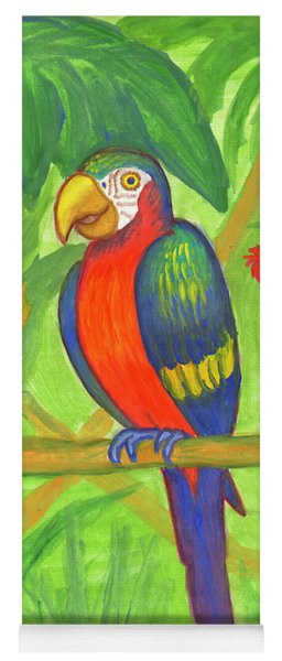 Macaw Parrot In The Wild Yoga Mat
