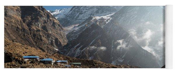 Machhapuchhare Base Camp In Nepal Yoga Mat