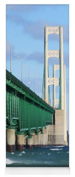 Mackinac Bridge And Waves Yoga Mat