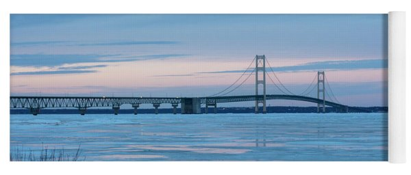 Mackinac Bridge In Ice 2161803 Yoga Mat