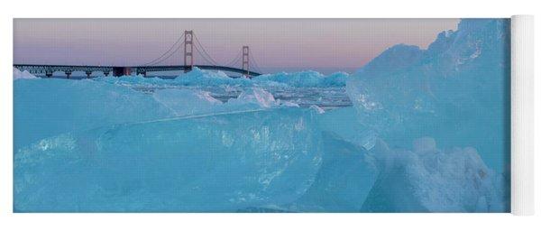 Mackinac Bridge In Ice 2161805 Yoga Mat