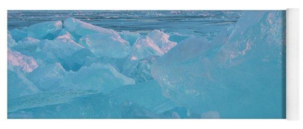 Mackinac Bridge In Ice 2161806 Yoga Mat