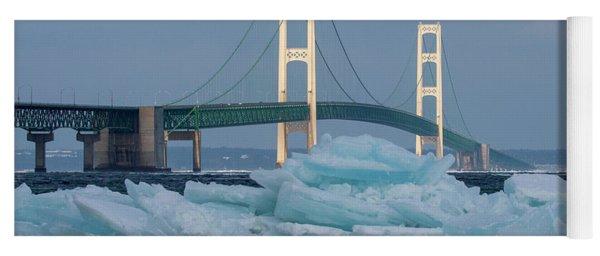 Mackinac Bridge In Ice 2161809 Yoga Mat