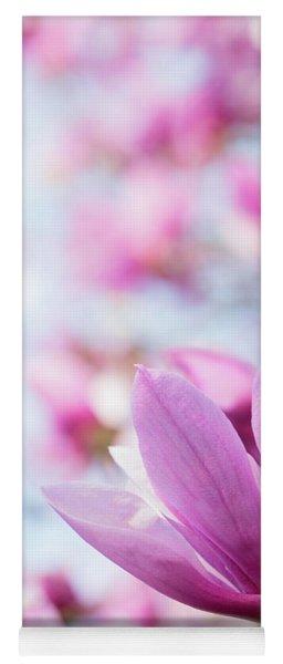 Magenta Magnolias Yoga Mat