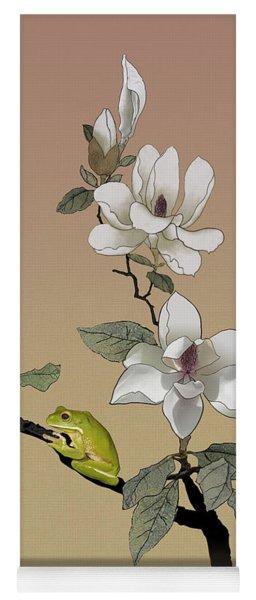 Magnolia And Tree Frog Yoga Mat