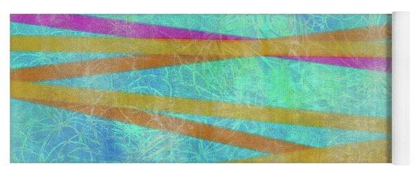 Malaysian Tropical Batik Strip Print Yoga Mat