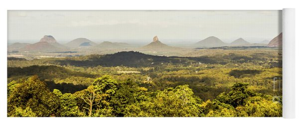 Maleny To The Glass House Mountains Yoga Mat