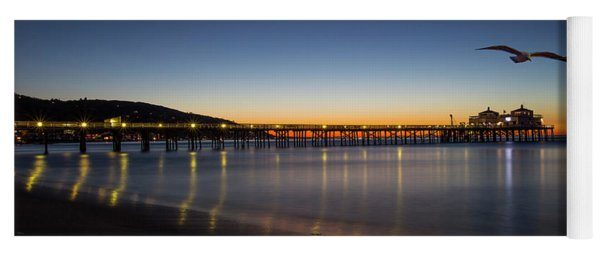 Malibu Pier At Sunrise Yoga Mat