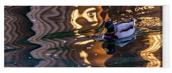 Mallard In Reflections Yoga Mat