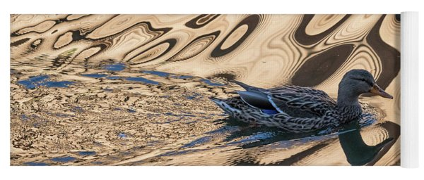 Mallard Reflections In Blue Yoga Mat