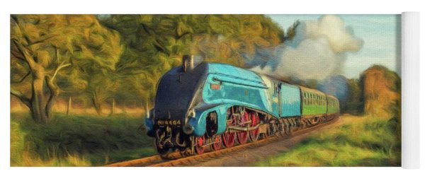 Mallard Steam Locomotive Yoga Mat