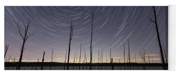 Manasquan Reservoir Star Trails  Yoga Mat