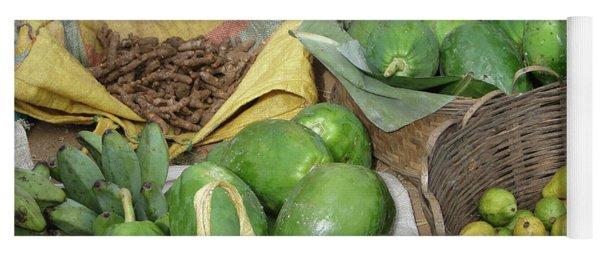 Mangos, Turmeric And Green Bananas  Yoga Mat