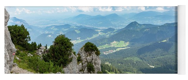 Yoga Mat featuring the photograph Mannlsteig, Berchtesgadener Land by Andreas Levi