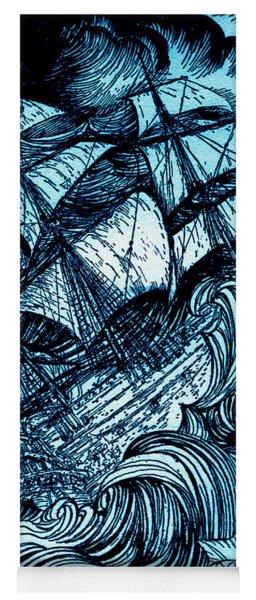 Manuscript Found In A Bottle By Edgar Allan Poe Illustration By Arthur Rackham Yoga Mat