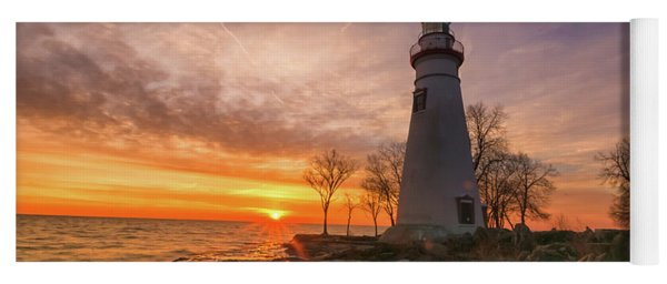 Marblehead Lighthouse Sunrise  Yoga Mat