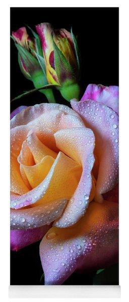 Mardi Gras Rose Portrait Yoga Mat