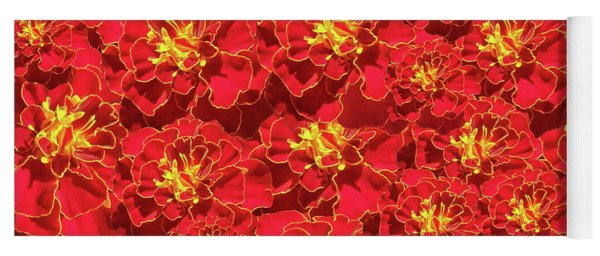 Marigold French Brocade Collage Yoga Mat