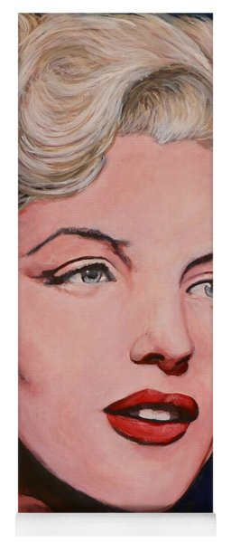 Yoga Mat featuring the painting Marilyn Monroe by Tom Roderick