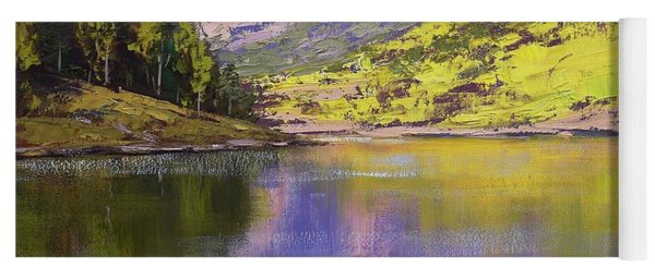 Maroon Bells Reflections Yoga Mat