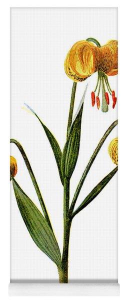 Martagon Lily Flower Yoga Mat