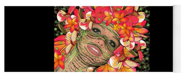 Mask Freckles And Flowers Yoga Mat