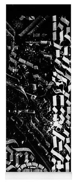 Matrix. Calligraphic Abstract Yoga Mat
