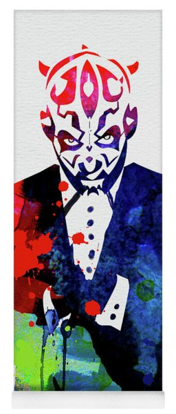 Maul In A Suite Watercolor Yoga Mat