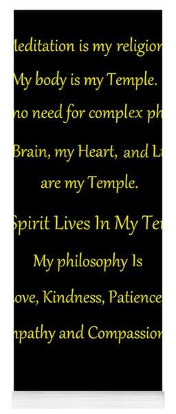 Meditation Is My Religion Yoga Mat