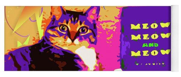 Meow, Meow And Meow Yoga Mat