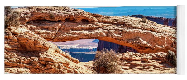 Yoga Mat featuring the photograph Mesa Arch by Andy Crawford