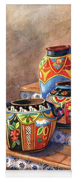 Mexican Pottery Still Life Yoga Mat