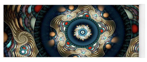 Yoga Mat featuring the digital art Micah by Missy Gainer