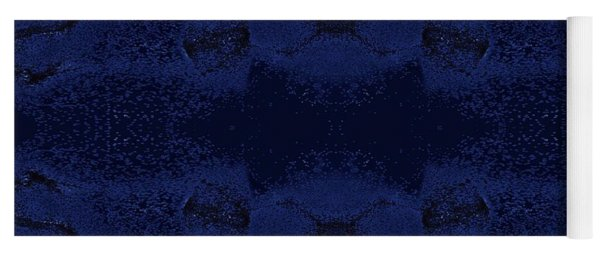 Yoga Mat featuring the digital art Midnight Blue by Rachel Hannah