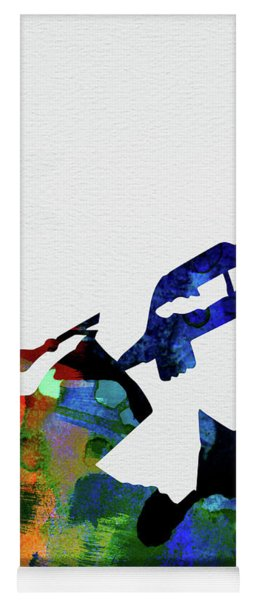 Miles Davis Watercolor Yoga Mat
