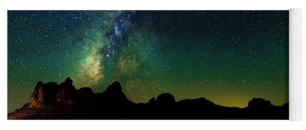 Milky Way In The Mojave Desert Yoga Mat
