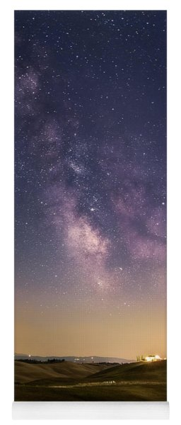 Milky Way In Val D'orcia Yoga Mat