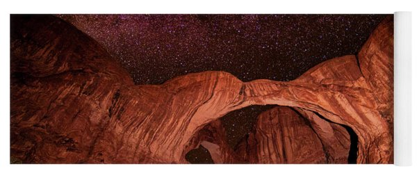 Yoga Mat featuring the photograph Milky Way Over Double Arch by Andy Crawford