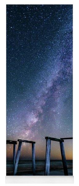 Milky Way Over Gulf Pier Yoga Mat