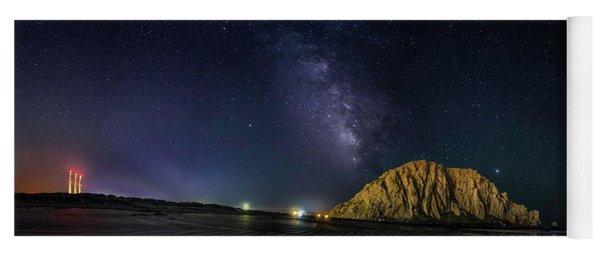 Milky Way Over Morro Rock Yoga Mat