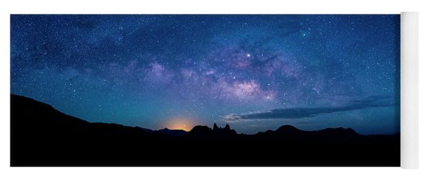 Milky Way Over Mule Ears Viewpoint Yoga Mat