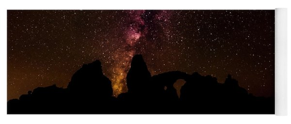 Yoga Mat featuring the photograph Milky Way Over Turret Arch by Andy Crawford