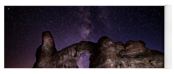 Milky Way Over Turret Arch Yoga Mat