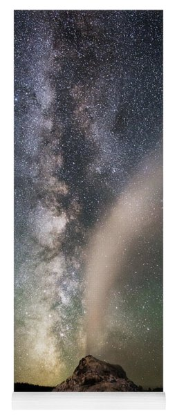 Milky Way Over White Dome Yoga Mat