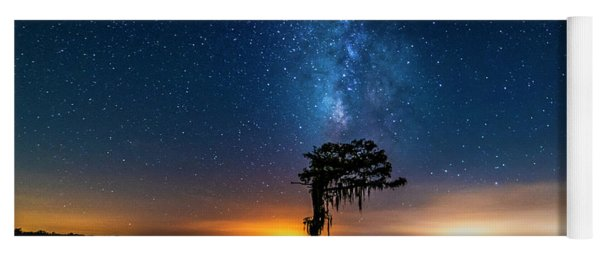 Yoga Mat featuring the photograph Milky Way Swamp by Andy Crawford