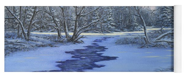 Millhaven Creek In Winter Yoga Mat