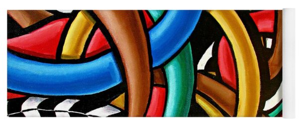 Colorful Abstract Art Painting Chromatic Intuitive Energy Art - Ai P. Nilson Yoga Mat