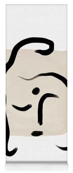 Minimal Buddha 5- Art By Linda Woods Yoga Mat