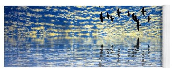 Mirroring Sky Yoga Mat